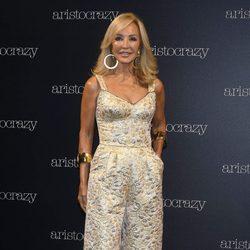 Carmen Lomana en el front row del desfile de Aristocrazy en Madrid Fashion Show Woman
