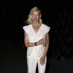 Anne Igartiburu en el front row del desfile de Couchel en Madrid Fashion Show Woman