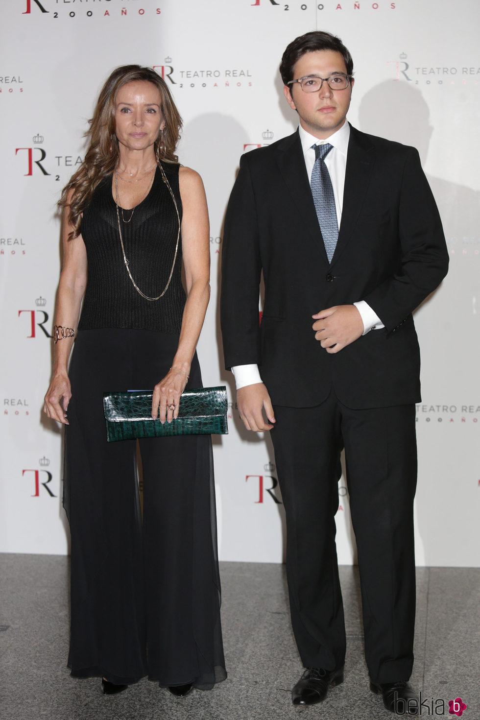 Miriam Ungría y Boris de Bulgaria en el estreno de la temporada de ópera del Teatro Real 2016