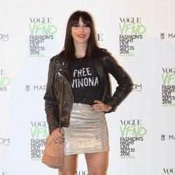 Nika en el photocall de Vogue's Fashion Night Out 2016