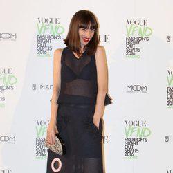 Natalia Ferviú en el photocall de Vogue's Fashion Night Out 2016