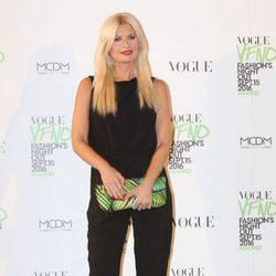 Maya Hansen en el photocall de Vogue's Fashion Night Out 2016