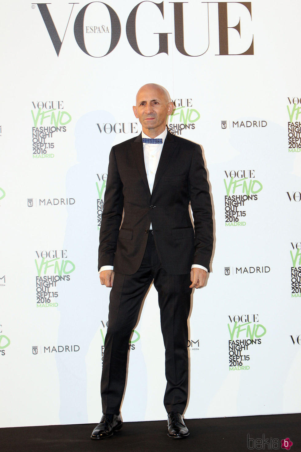 Modesto Lomba en el photocall de Vogue's Fashion Night Out 2016