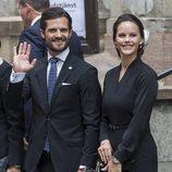 Carlos Felipe de Suecia y Sofia Hellqvist en la apertura del Parlamento 2016