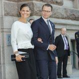 Victoria y Daniel de Suecia en la apertura del Parlamento 2016