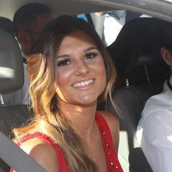 Alejandra Lozano, novia de Javier Tudela, en la boda de Kiko Matamoros y Makoke