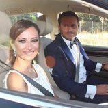 Juan Peña y su mujer en la boda de Kiko Matamoros y Makoke