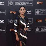Inma Cuesta en la alfombra roja de la gala inaugural del Festival de Cine de San Sebastián 2016