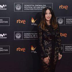 Bárbara Goenaga en la alfombra roja de la gala inaugural del Festival de Cine de San Sebastián 2016