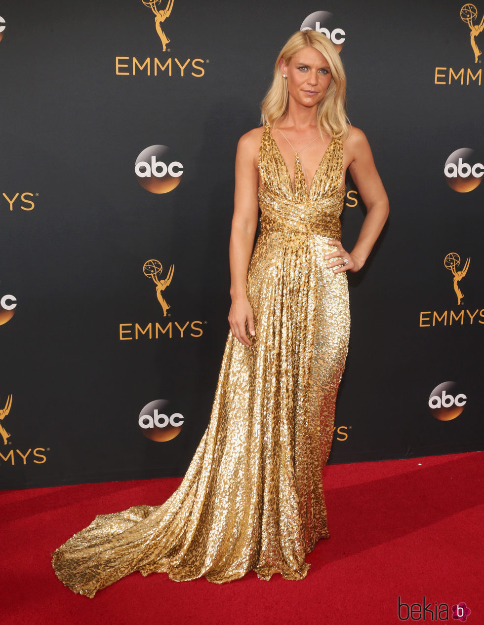 Claire Danes en la alfombra roja de los Premios Emmy 2016