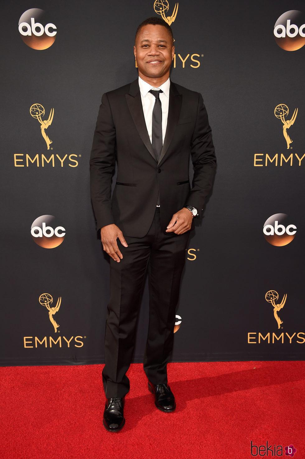 Cuba Gooding Jr en la alfombra roja de los Premios Emmy 2016