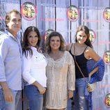 Carlos Pombo, Ivonne Reyes y Mónica Hoyos con Terelu Campos en su 51 cumpleaños