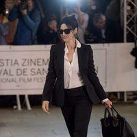Monica Bellucci llegada al Hotel María Cristina en San Sebastián