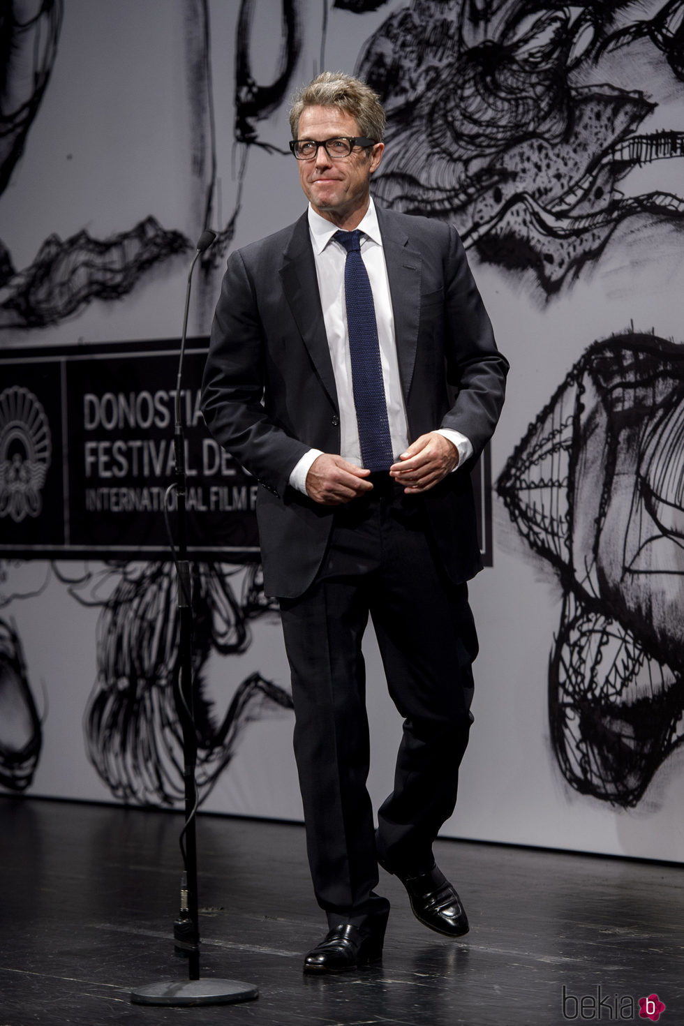 Hugh Grant en la premiere 'Florence Foster Jenkins' en el Festival de Cine de San Sebastián 2016