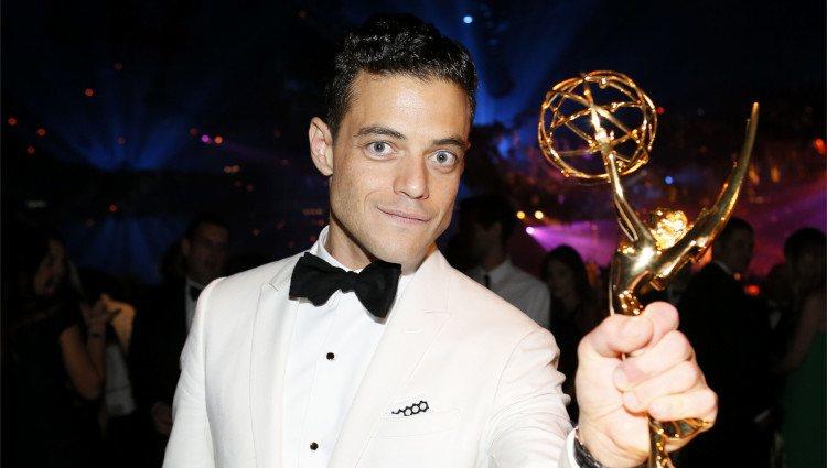 Rami Malek en la fiesta tras los Premios Emmy 2016