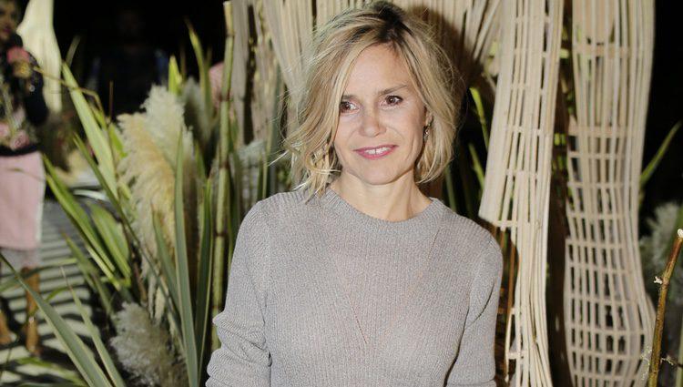 Eugenia Martínez de Irujo en el desfile de Jorge Vázquez colección primavera/verano 2017 en la Madrid Fashion Week