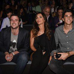 Álex Lequio, Paloma Lago y su hijo, Javier en la Semana de la Moda de Madrid 2016