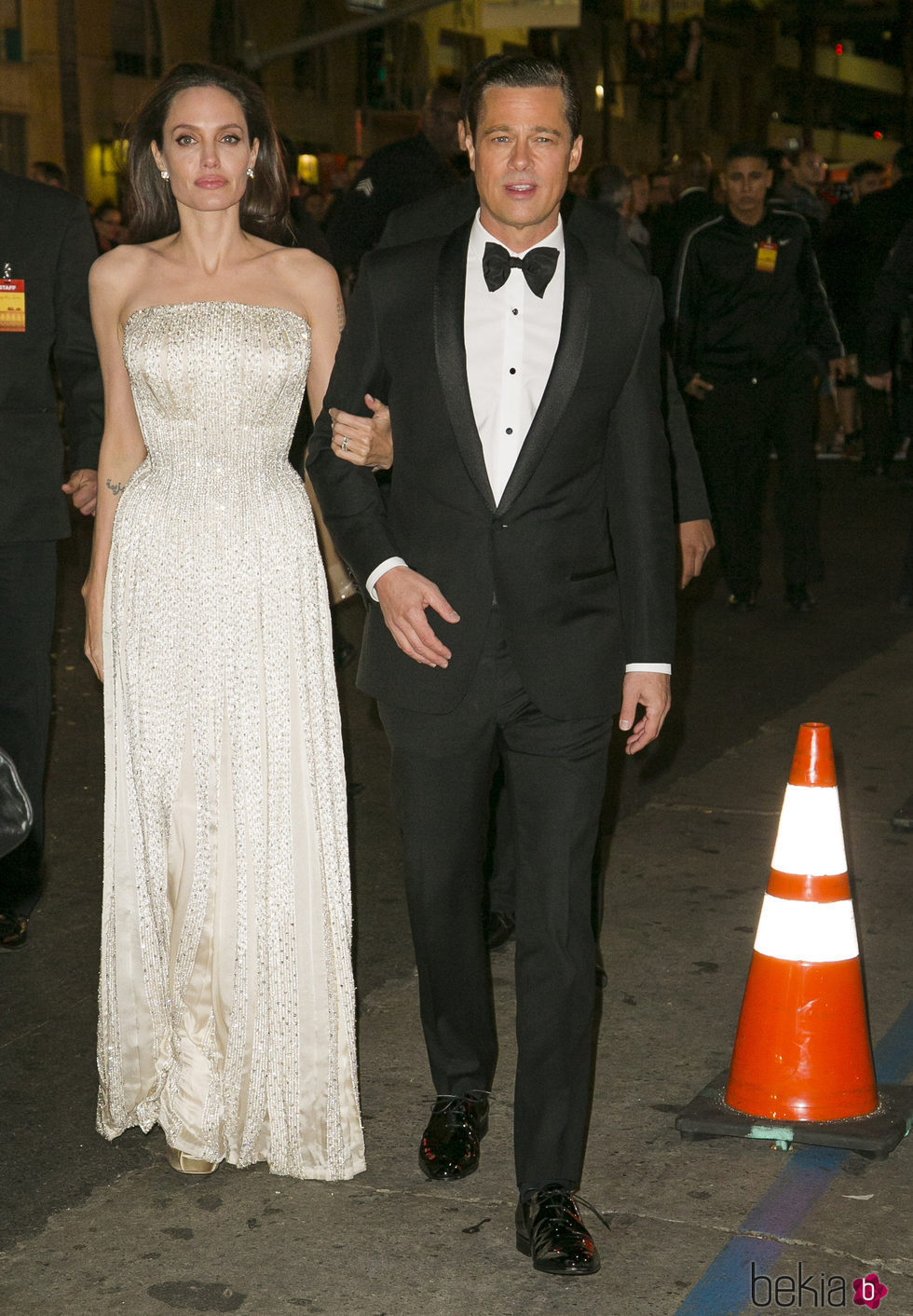 Brad Pitt y Angelina Jolie en la premiere de 'By The Sea' en Los Ángeles