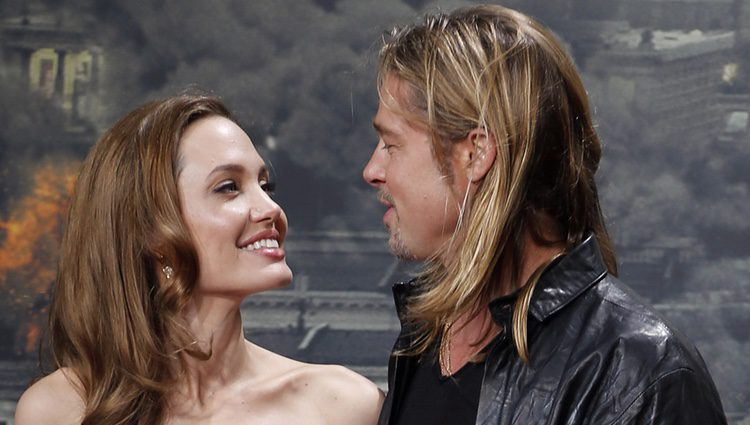 Brad Pitt y Angelina Jolie en la premiere 'the World War Z' en Alemania