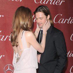 Brad Pitt y Angelina Jolie durante el festival internacional de cine Palm Springs