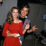 Brad Pitt y Shalane McCall en 1988