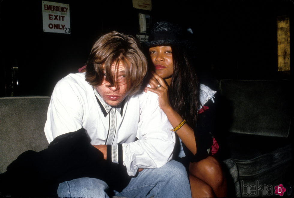 Brad Pitt y Robin Givens cuando salieron juntos