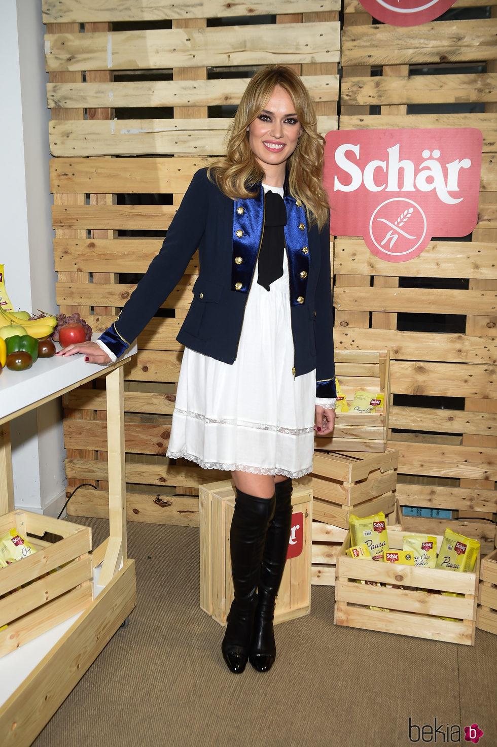 Patricia Conde durante un acto como imagen de la firma Schär