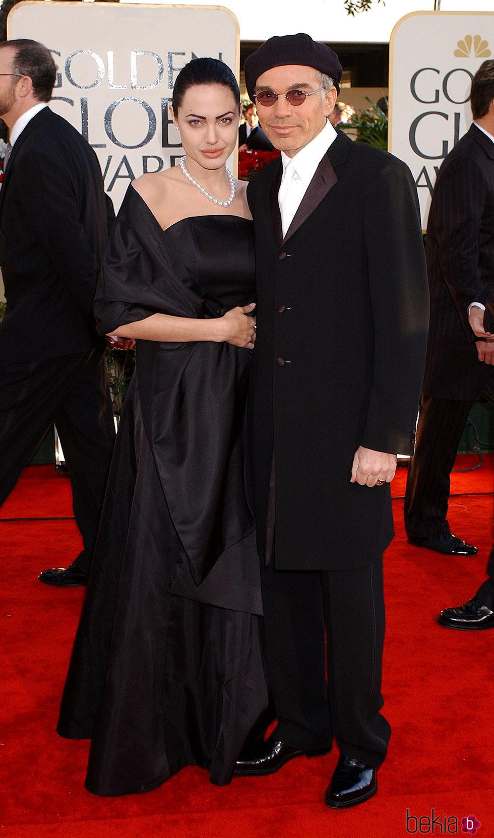 Angelina Jolie y Billy Bob Thornton en los Globos de Oro de 2002