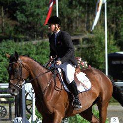 Marta Luisa de Noruega montando a caballo