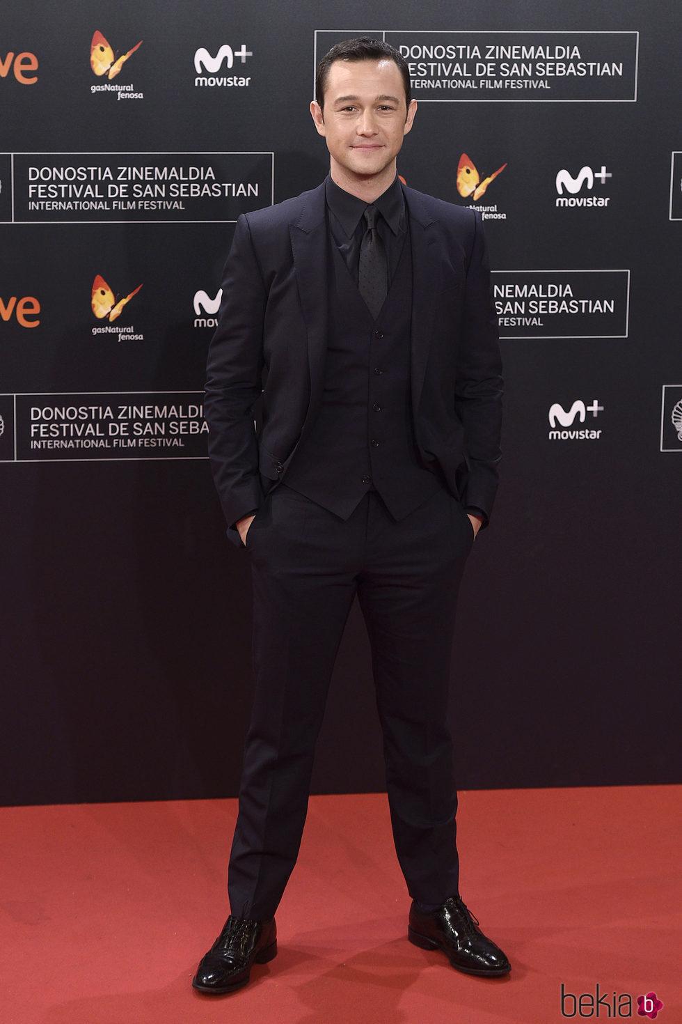 Joseph Gordon-Levitt en la alfombra roja del Festival de Cine de San Sebastián 2016