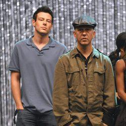 Cory Monteith junto a Ryan Murphy, creador de 'Glee'