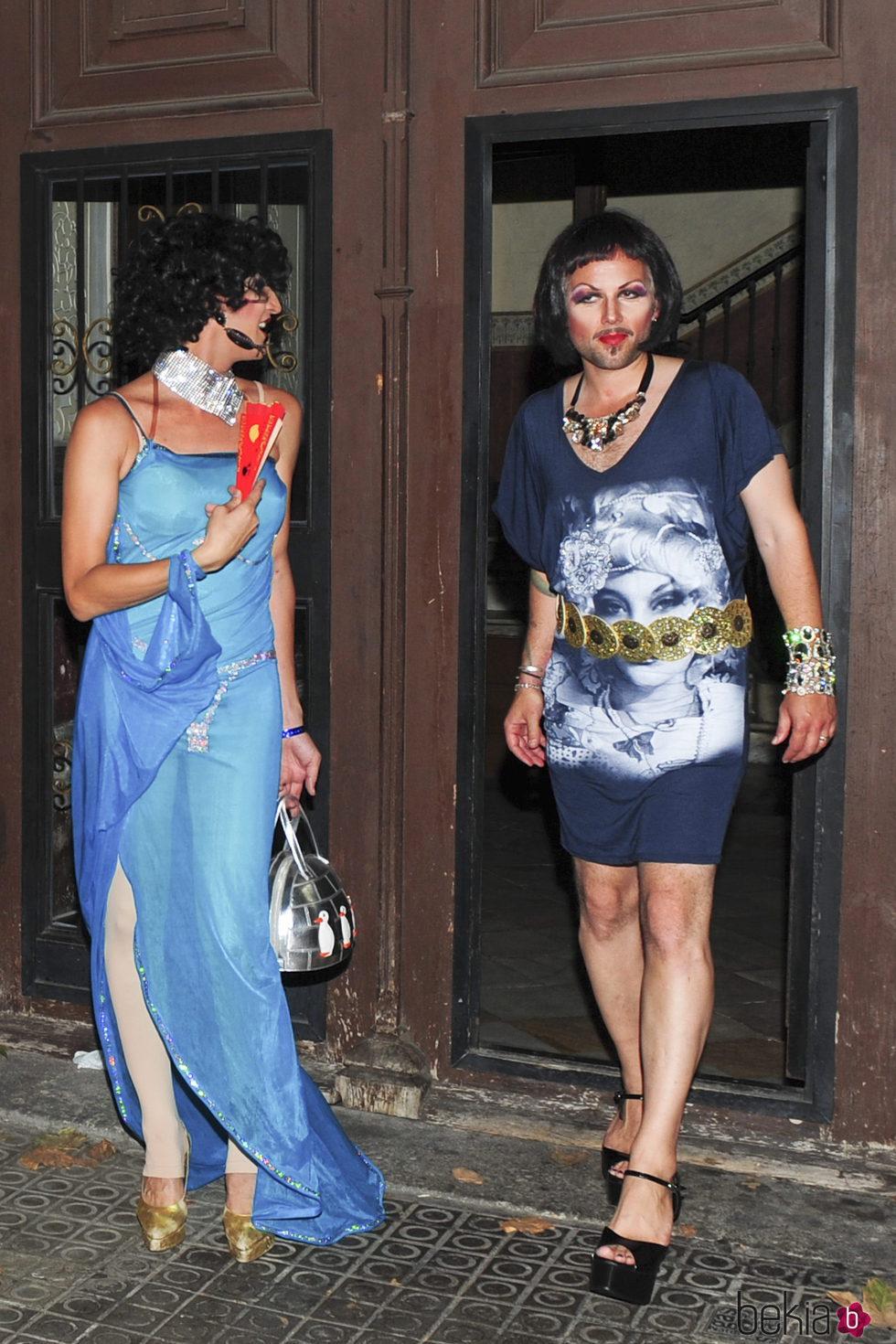 Ari Behn vestido de mujer en Barcelona