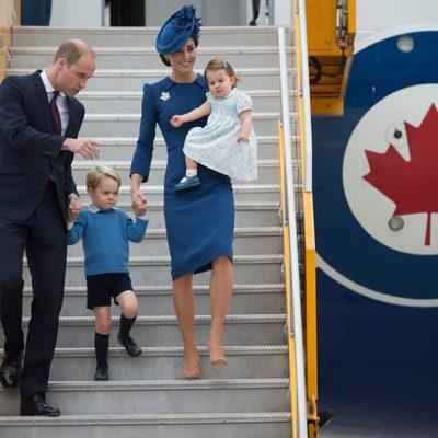 Los Duques de Cambridge y los Príncipes Jorge y Carlota llegan a Canadá para un viaje oficial