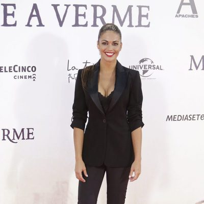 Lara Álvarez en el estreno de 'Un monstruo viene a verme'