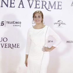 Leire Martínez en el estreno de 'Un monstruo viene a verme'