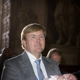 Guillermo Alejandro de Holanda en el bautizo de Carlos de Borbón y Parma