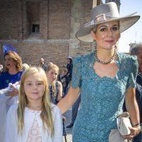 Máxima de Holanda y Ariane en el bautizo de Carlos de Borbón y Parma