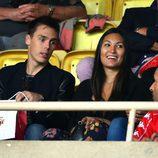 Louis Ducruet y Marie Chevalier durante la Champions League 2016 / 2017