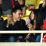Louis Ducruet y Marie Chevalier en la Champions League 2016/ 2017