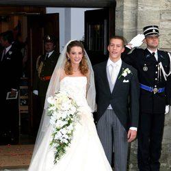 Luis de Luxemburgo y Tessy Antony el día de su boda