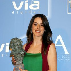Pilar López de Ayala posa con su Goya a Mejor actriz protagonista
