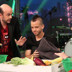 David Muñoz comiendo los platos de 'El hormiguero'