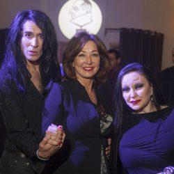 Ana Rosa Quintana con Mario Vaquerizo y Alaska en los Premios Chicote 2016