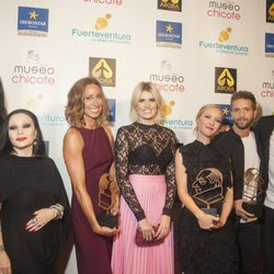 Mario Vaquerizo, Alaska, Gemma Mengual, Adriana Abenia, María Esteve, Pablo Alborán y Bonaventura Clotet en los Premios Chicote 2016