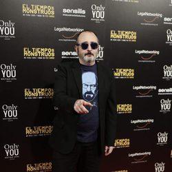 Carlos Areces en el estreno de la película 'El tiempo de los monstruos'