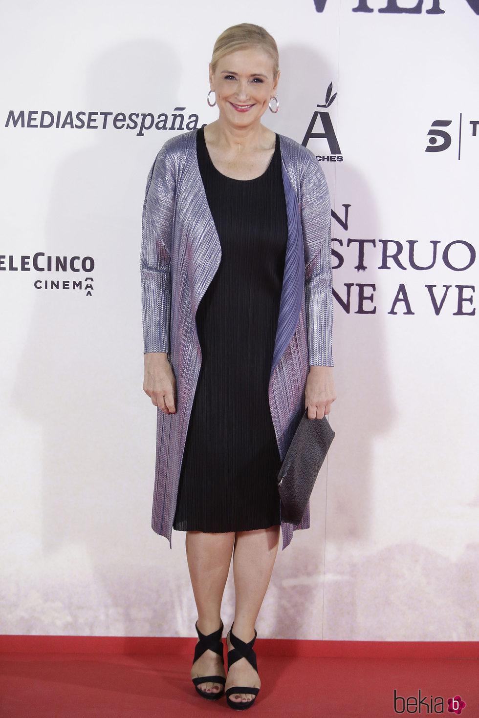 Cristina Cifuentes en la premiere en Madrid de 'Un monstruo viene a verme'