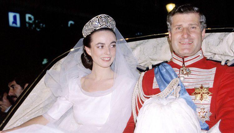 Carlos Fitz-James Stuart y Matilde Solís en su boda