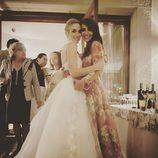 Marta Hazas con Paula Echevarría el día de su boda