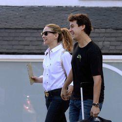 Marta Hazas y Javier Veiga saliendo del hotel en el que pasaron su noche de bodas