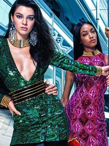 Kendall Jenner y Joan Smalls para la colaboración con Balmain